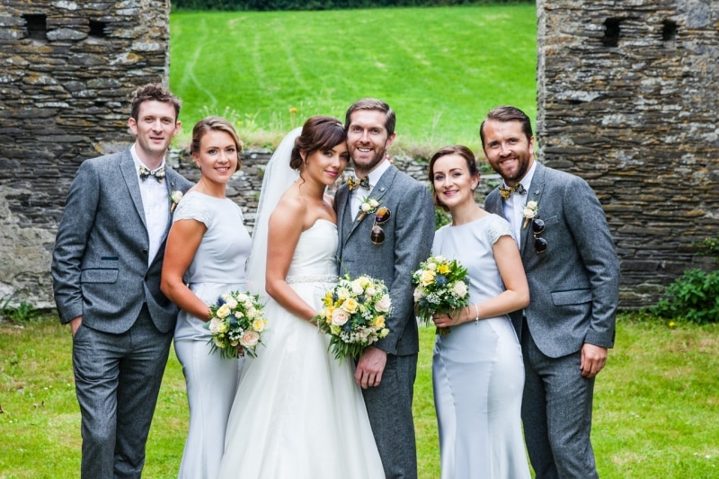 Bridal party in an old coal store in Ring , Clonakilty