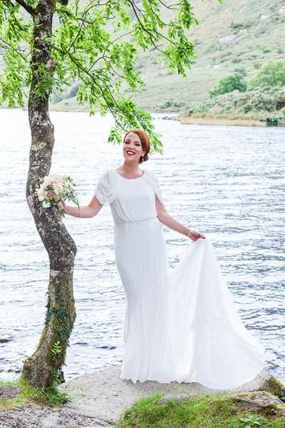 Gougane Beara-woodland-Wedding-emerandthomas-Cork-West Cork-bride