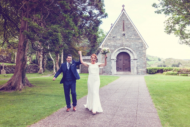 Gougane Beara-woodland-Wedding-emerandthomas-Cork-West Cork-church