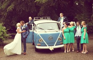Vintage VW Camper Van wedding photo