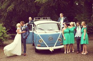Vintage VW Camper Van wedding photo